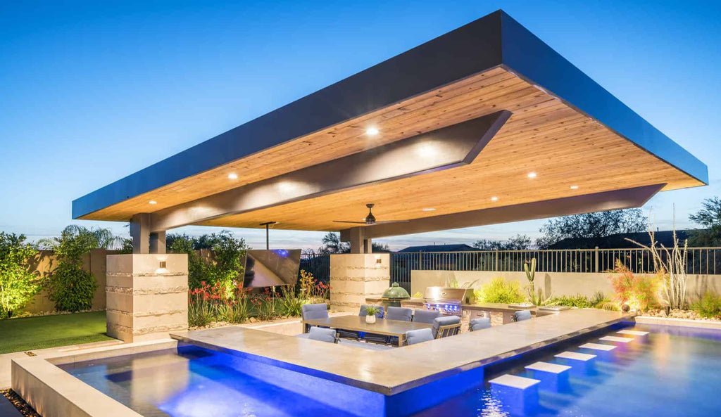 Custom Pool, Bold Architecture, Cantilevered Patio, Living Lavishly in Scottsdale, Arizona