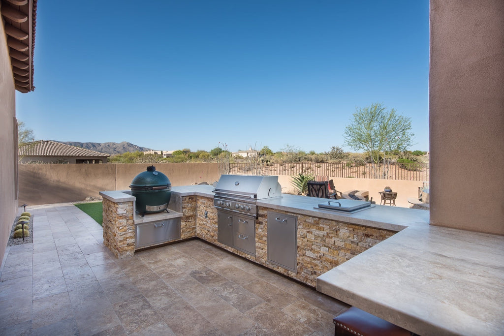 Desert Oasis and Garden, Modern Perimeter Overflow Spa & Luxury Pool, Outdoors Living in Scottsdale Arizona