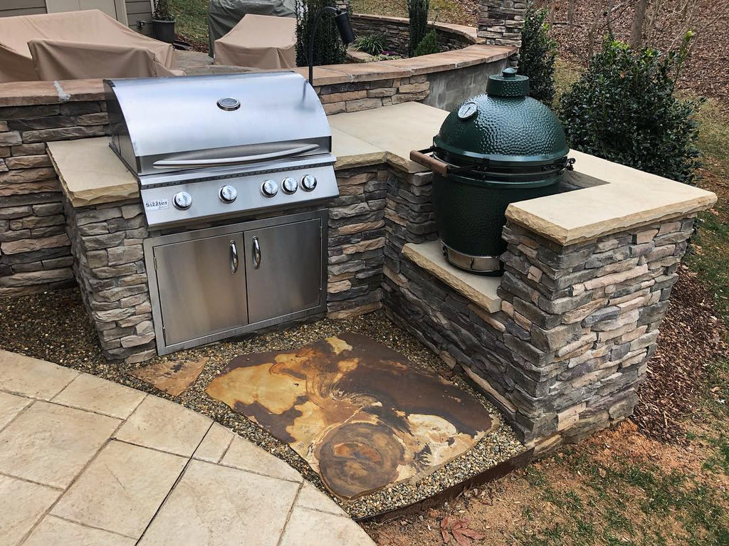 Engaging and Inviting, Grill Island Addition, and Gorgeous Stone Slab – Get Outside and Healthy with a Refreshing Retreat