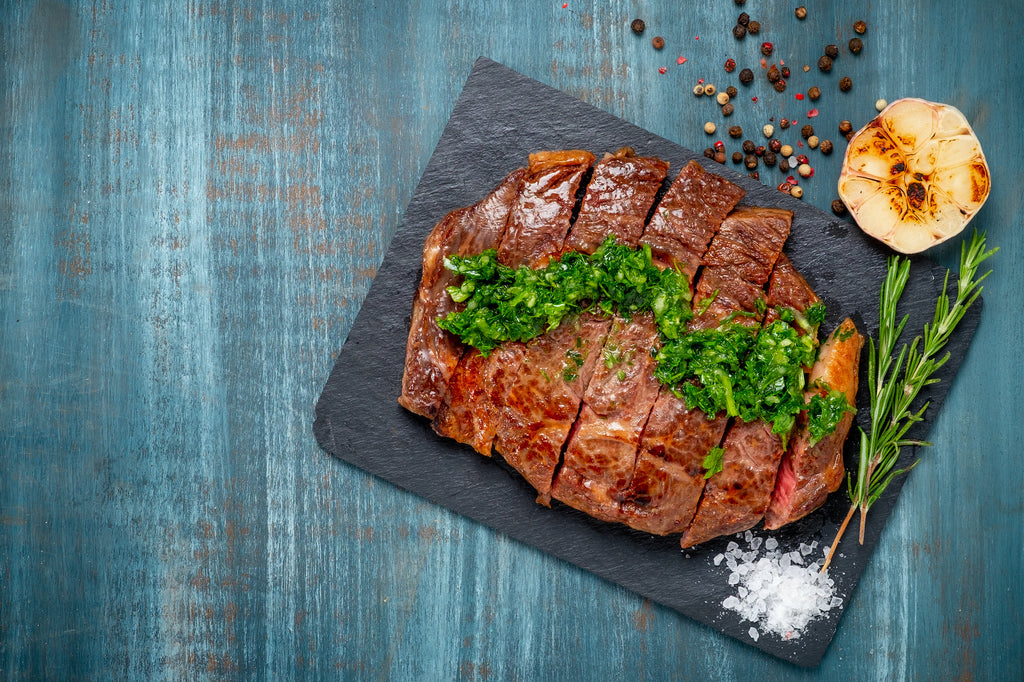 Fourth of July Grilled Rib Steaks with Chimichurri Sauce