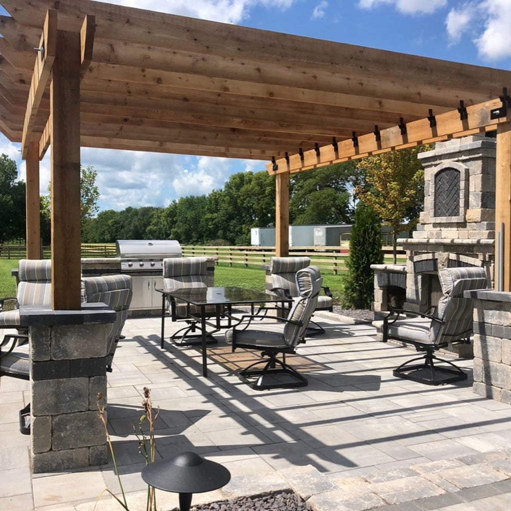 Grand and Serene, Gorgeous Pergola, Custom Stone Fireplace, Stunning Vistas in Central Illinois