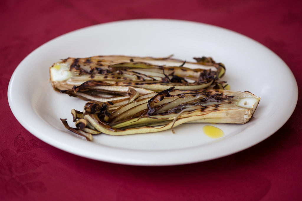 Grilled Endive with Pistachios, Dried Cherries, and Feta Cheese – Autumn Grilling Series