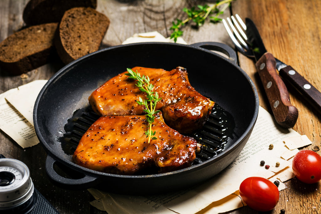Grilled Pork Chops with Apple-Bourbon Glaze – Autumn Grilling Series