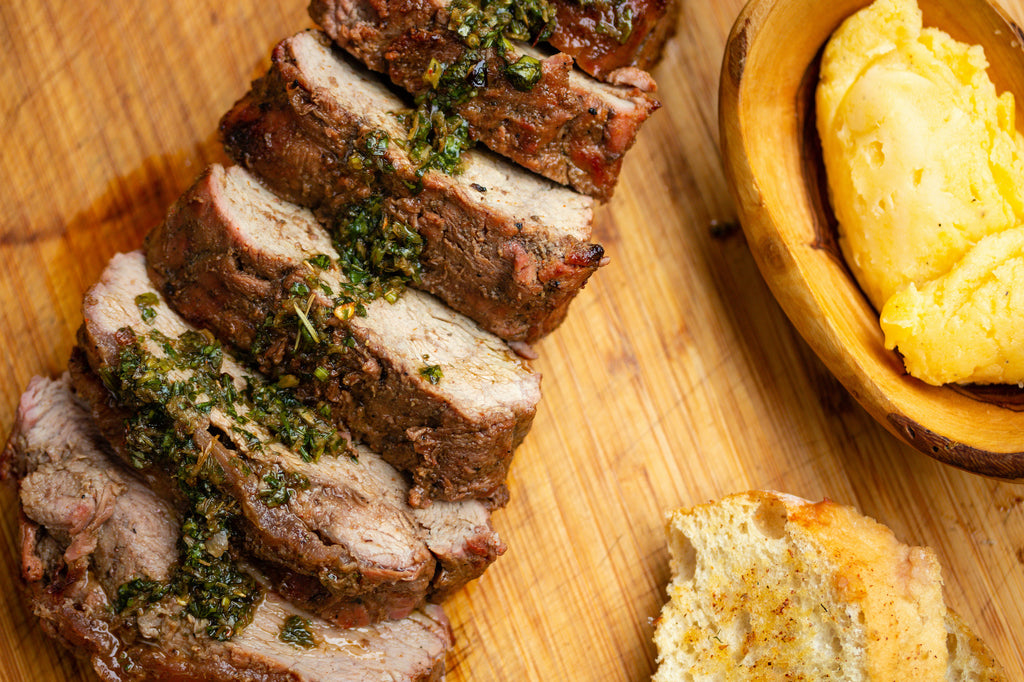 Grilled Pork Tenderloin with Cilantro Jalapeno Chimichurri – The Springtime Grilling Series