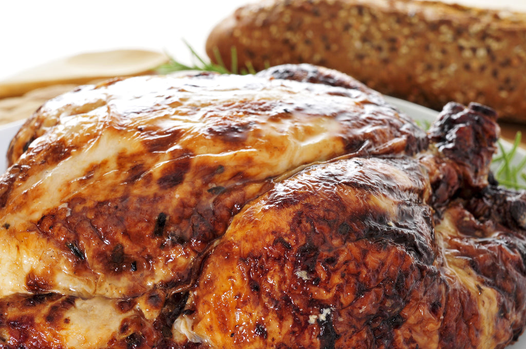 Grilled Rotisserie Turkey with Stuffing – Thanksgiving on the Grill