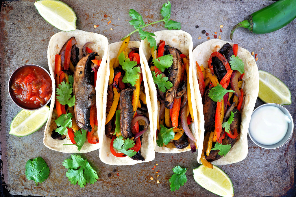 Grilled Vegetable Portobello Mushroom Tacos - Terrific Grilled Taco Series