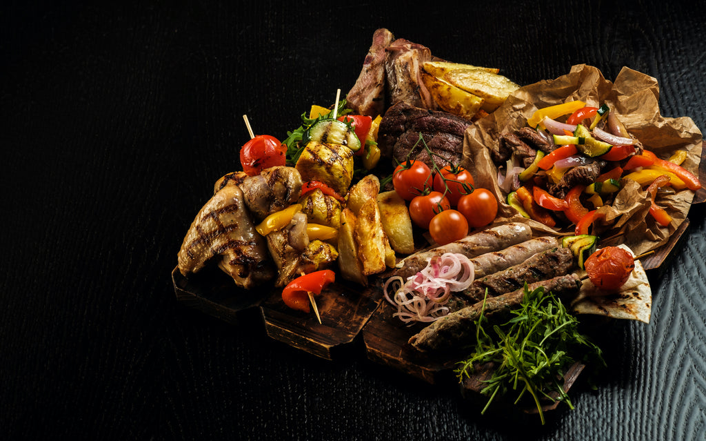 Mixed Grill with Roasted-Garlic-and-Pepper Salsa – Game Day Grilling Series