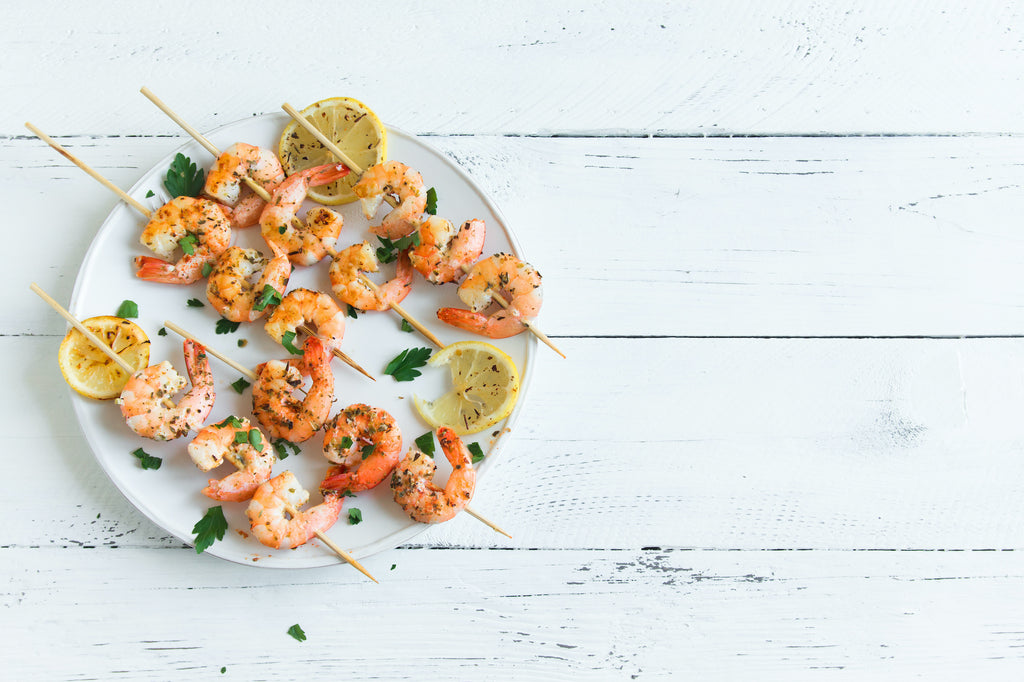 Pesto Shrimp Skewers - Grillsanity!
