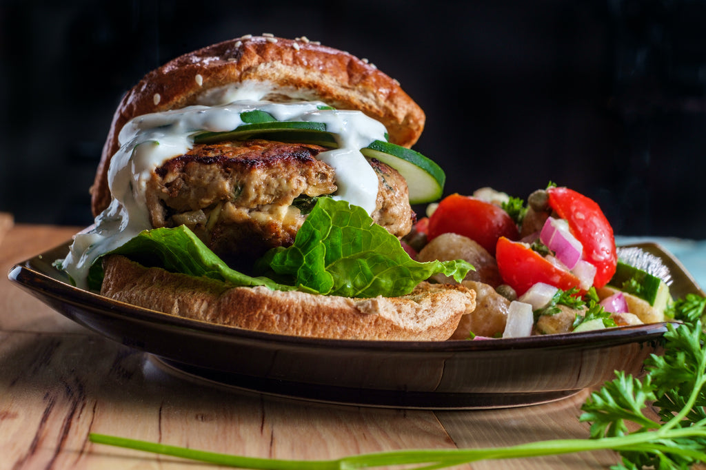 Refreshing Greek Chicken Burgers – Sizzling Summer Series