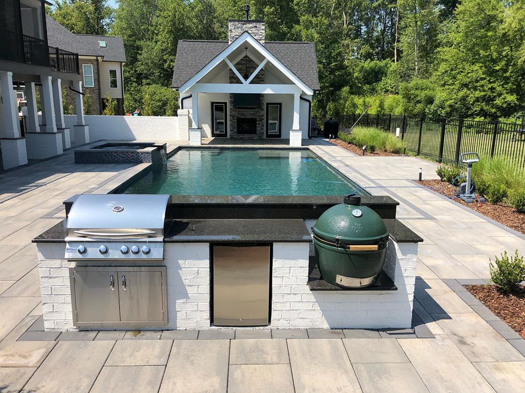 Sleek & Clean, Modern Custom Pool, Inviting Outdoor Entertainment, Gorgeous North Carolina Hideaway