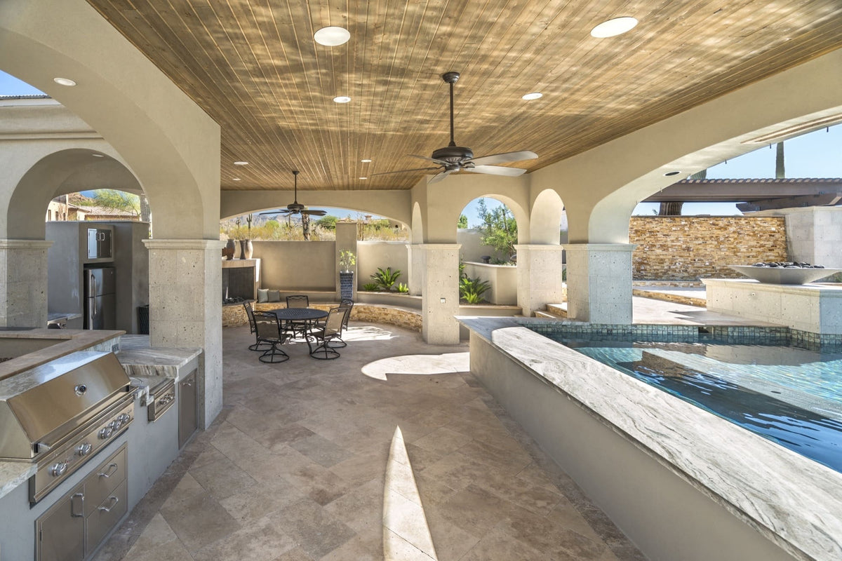 Vast Resort-Style Pool, Spanish Arches, Luxurious Outdoor ... on Summerset Outdoor Living id=18531