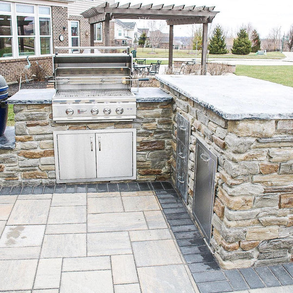 Outdoor Living Makeover in Northern Kentucky with Gorgeous Deck, Huge Paved Patio, and Wood Burning Fireplace