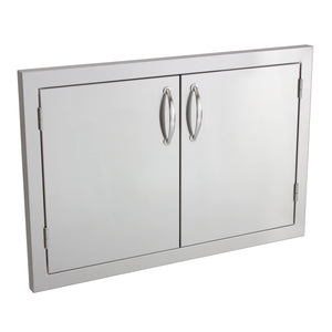 "33"" North American Stainless Steel Double Access Door w/ Masonry Frame Return"