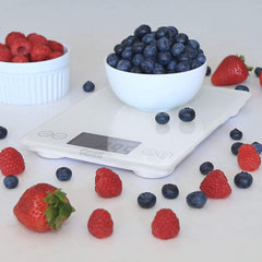 Escali Arti Glass Digital Scale Frost White