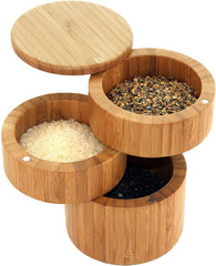 Totally Bamboo 3-Tier Salt Box
