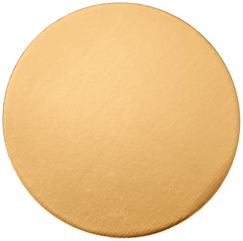 "Round Gold Cake Base 10"" (12 count)"
