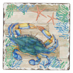 Absorbent Stone Coaster - Crab Life