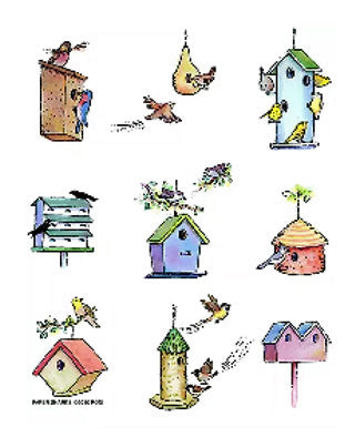 Flour Sack Towel - Bird Houses