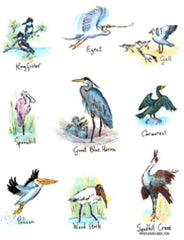 Flour Sack Towel - Shore Birds