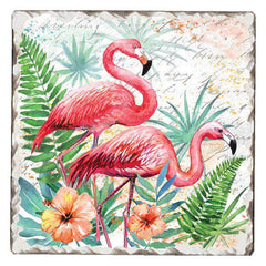 Absorbent Stone Coaster - Pink Pair