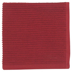 Ripple Carmine Dish Cloth