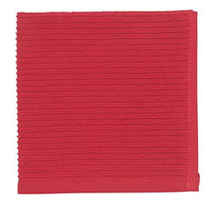 Ripple Dish Cloth Red