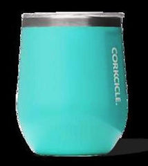 Corkcicle Stemless Turquoise