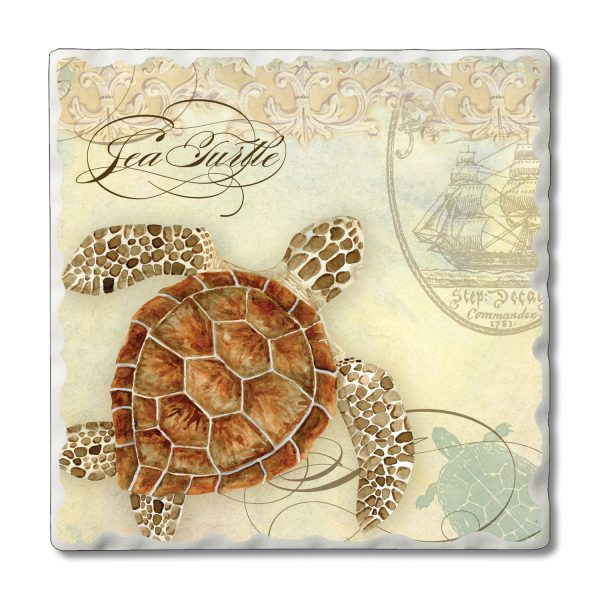 Tumbled Tile Coaster - Coastal Waterway (4 pack)