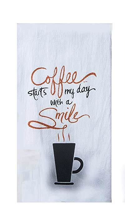 Flour Sack Towel Coffee Glitter