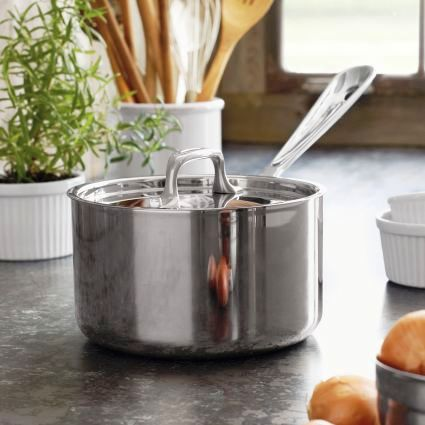 All Clad Sauce Pan W/Lid 2qt
