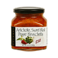 Elki Artichoke Sweet Red Pepper Bruschetta