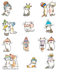 Flour Sack Towel Cats With Hats