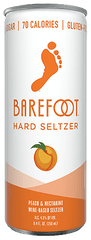 Barefoot Hard Seltzer Peach & Nectar 250ml - 4 pack