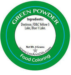 LorAnn Powder Food Coloring - Green (4 grams)