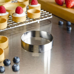 "Fat Daddio Pastry Ring - 3"" x 3/4"" (Stainless Steel)"