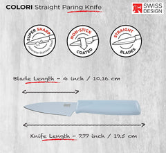 "Kuhn Rikon 4"" Paring Knife - Sea Salt"