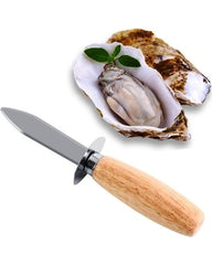 Oyster Knife - Wood/SS