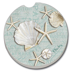 Car Coaster - Linen Shells