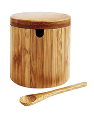 Asian Kitchen Salt Box W/Spoon
