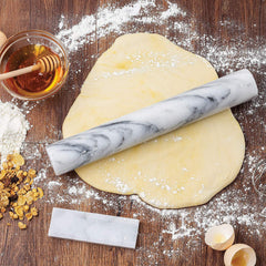 French Marble Rolling Pin W/Cradle