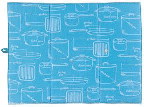 Glass Towel Bali Blue (Set of 2)