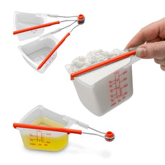 Dreamfarm Levups Scrape Level Measuring Cups