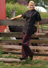 Women's Chef Coat Tahoe Black XSmall