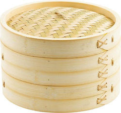 "Steamer Bamboo 10"" 2 Tier w/Lid (3 piece set)"