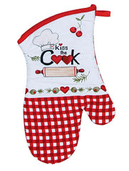 Oven Mitt Kiss The Cook