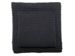 Ripple Kitchen Towel: Black