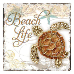 Absorbent Stone Coaster - Beach Life