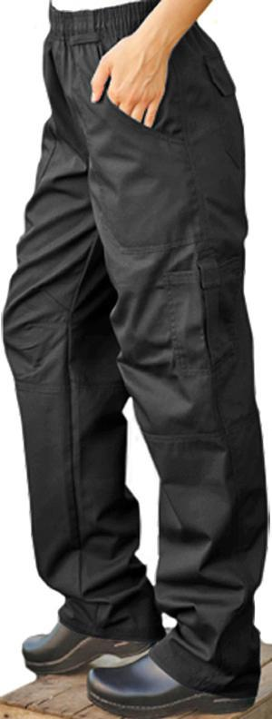 Chef Pant Grunge Cargo Black Large