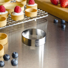 "Fat Daddio Pastry Ring - 2"" x 3/4"" (Stainless Steel)"