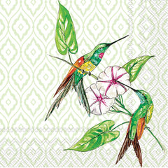 Cocktail Napkin Hummingbird & Hibiscus (20 count)